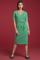 Anja Dress Breton Stripe Green