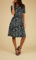 Bibi dress Frangipani blue