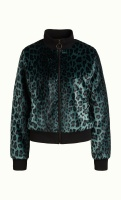 Rib Collar Jacket Leopard