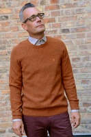 Garway ribbed crewneck ginger