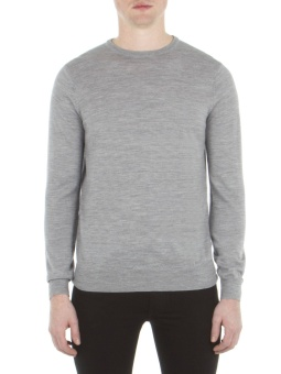 Merino crew neck grey
