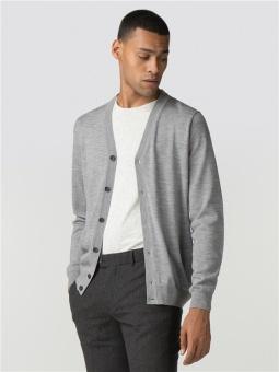 Merino Cardigan Grey