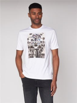 Headlamp Badges Tee White