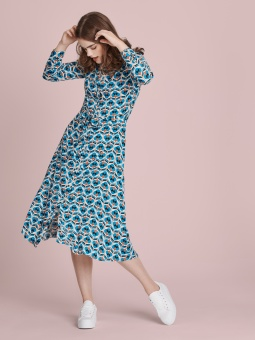Wild open dress blue