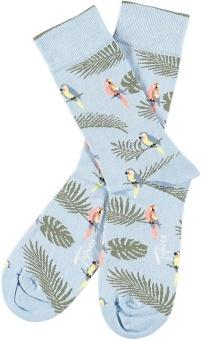 Strumpa papegojor ljusblå