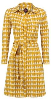 Button Down Dress Winter yellow