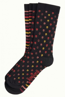 Socks 2-Pack Canape black