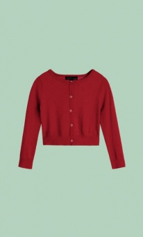 Cardi Roundneck Droplet red