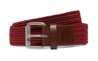 Plain woven cord belt maroon