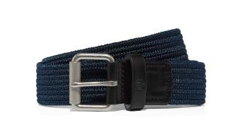 Plain woven cord belt navy