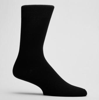 Enfärgade strumpor svart