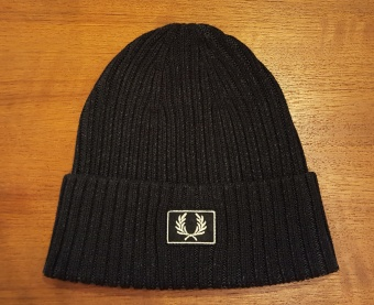 2 tone cotton beanie black
