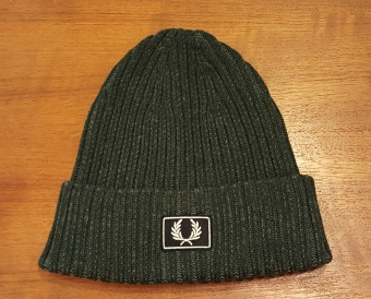 2 tone cotton beanie hunting green