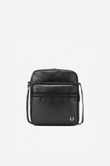 TONAL PU FLIGHT BAG black