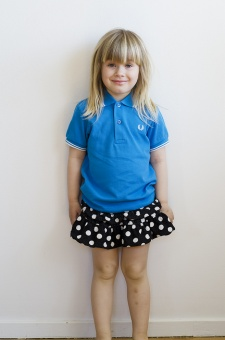 Kids polo shirt aster/porcelain