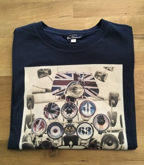 Headlamp Badges Tee Dark Navy