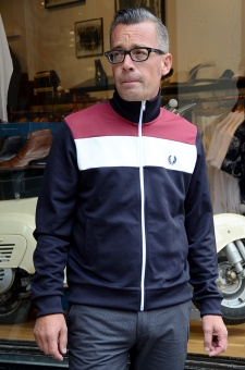 Block colour track jacket