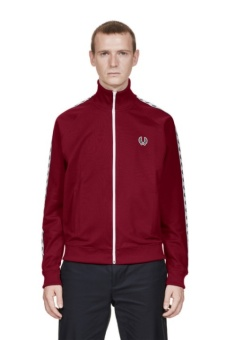 Taped track jacket tawny port