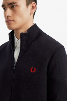 Knitted track jacket navy