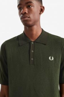 Argyle knitted shirt green