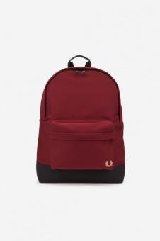 Woven Backpack Maroon