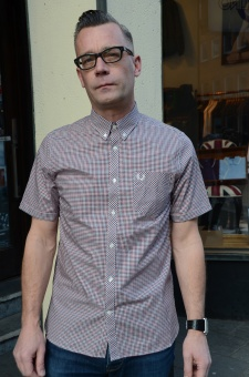 Three colour gingham shirt