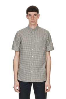 Three colour gingham shirt nettle