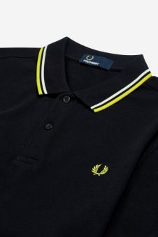 Twin Tipped FP Shirt navy/white/electric yellow