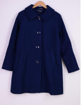 Betty Coat Biscuit blue