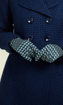 Glove Geo lapis blue