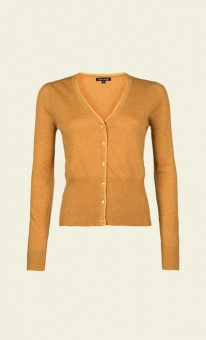 Cardi V Cocoon Honey yellow