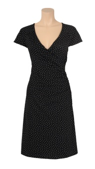 Cross dress little dots black