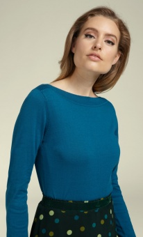 Audrey Top Cottonclub harbour blue
