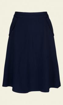 Delphi skirt woven crepe blue