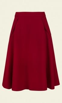 Delphi skirt woven crepe red