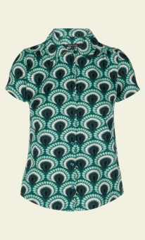 Blouse peacock rock green