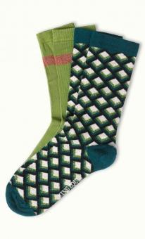 Socks 2-Pack Oddity posey green