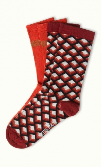 Socks 2-Pack Oddity red