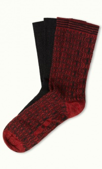 Socks 2-Pack Loopy black