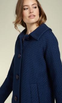 Betty Coat Biscuit blue