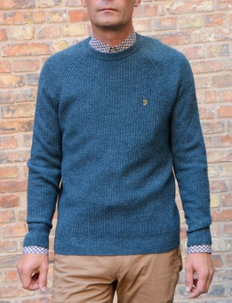 Garway ribbed crewneck teal