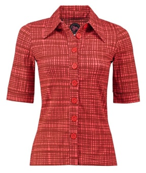 Button Shirt Hatch Red