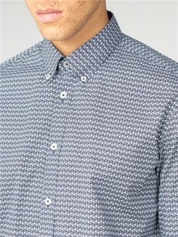 Stipple Micro Geo Shirt