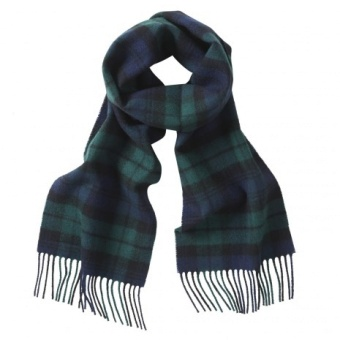 Gloverall ullscarf navy blackwatch