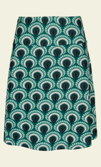 Borderskirt peacock rock green