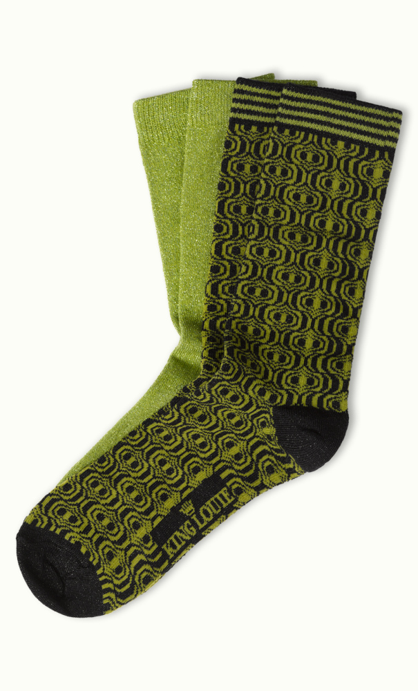 Socks 2-Pack Loopy posey green