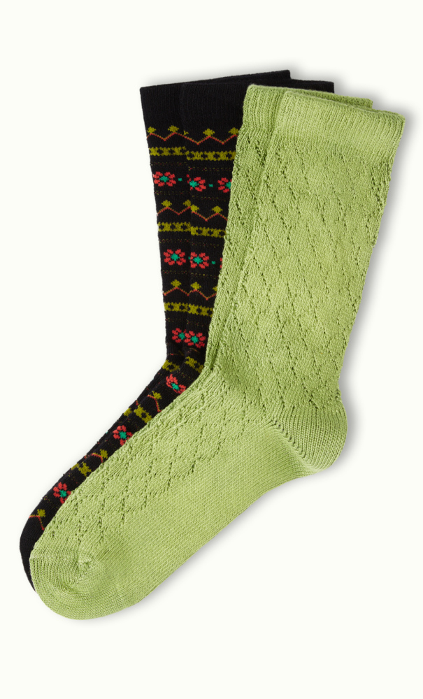 Socks 2-Pack Alpine black/green