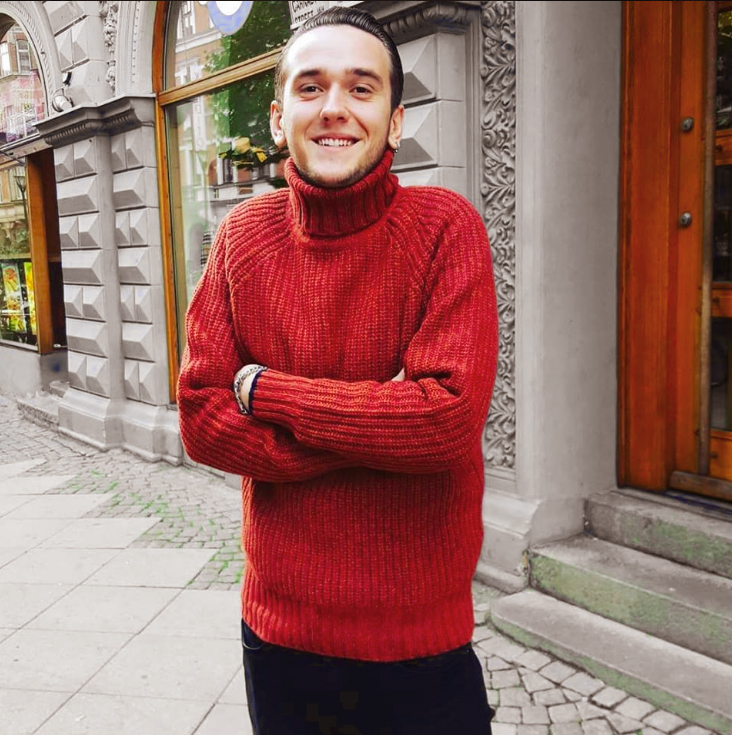 Anderby roll neck Tiger mix