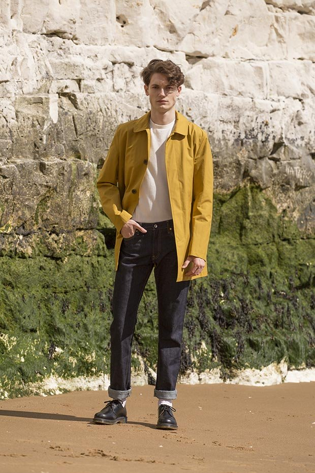 Mens car coat mustard