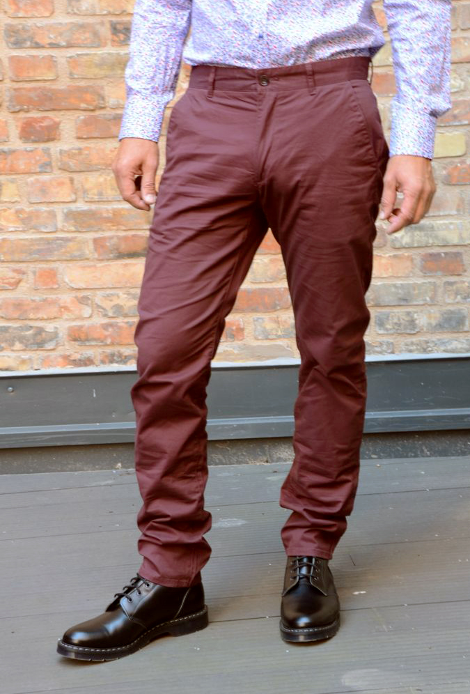 ELM chino twill red